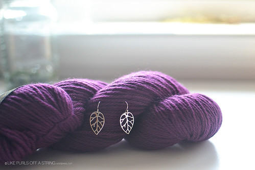 Yarn and earrings