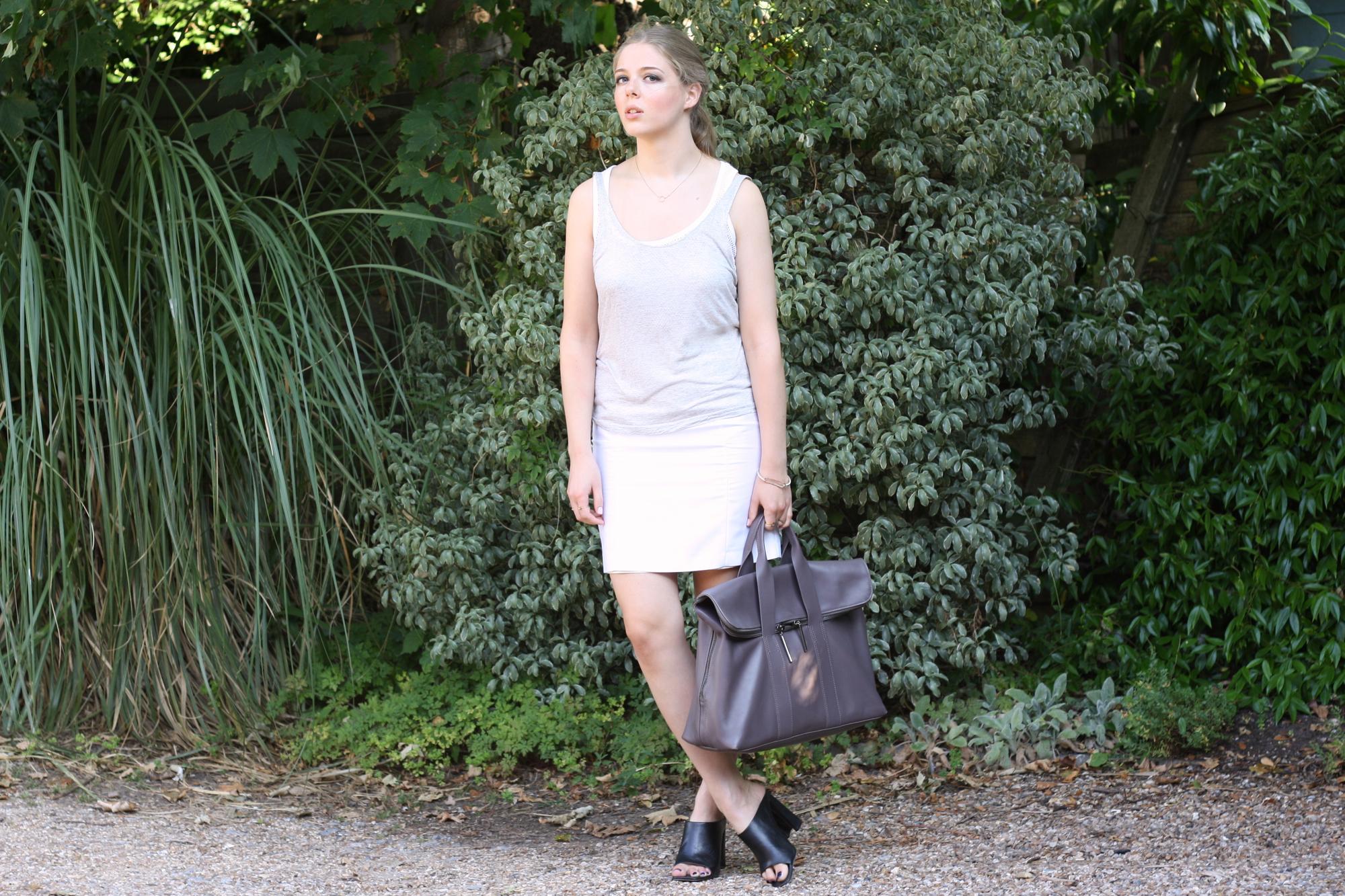 Topshop modern tailoring white skirt