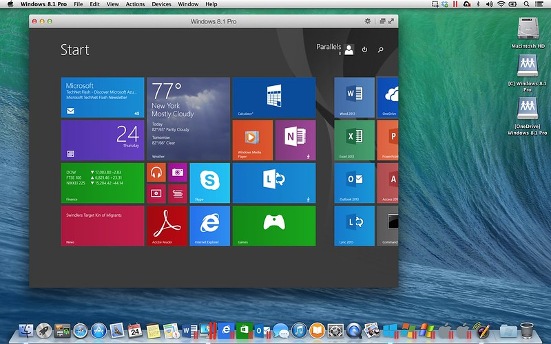 Материалы автора Владимир Скрипин. Parallels Desktop 10 для Mac работает с