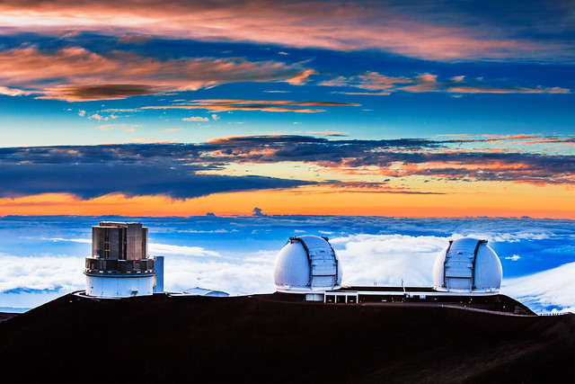 Sunset on Mauna Kea, Hawaii