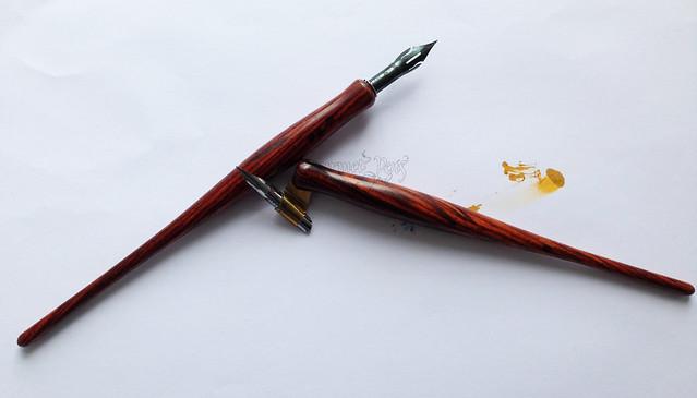 Review: Handmade Oblique & Straight Dip Nib Holders