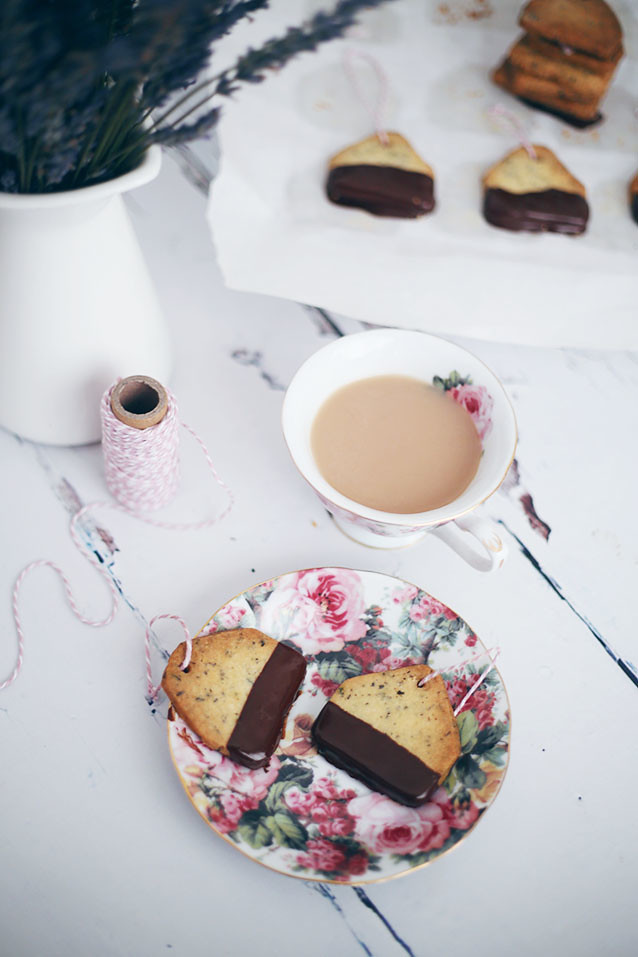 Chocolate Dipped Earl Grey Tea Bag Biscuits Recipe