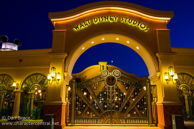 Walt Disney Studios by night