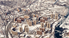 Harlem, New York City, from above (with macro lens)