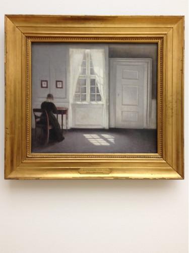 Vilhelm Hammershoi 'Interior in Strandgade, sunlight on the floor' 1901