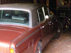 automobile, automotive exterior, family car, vehicle, rolls-royce silver shadow, compact car, antique car, sedan, vintage car, land vehicle, luxury vehicle,