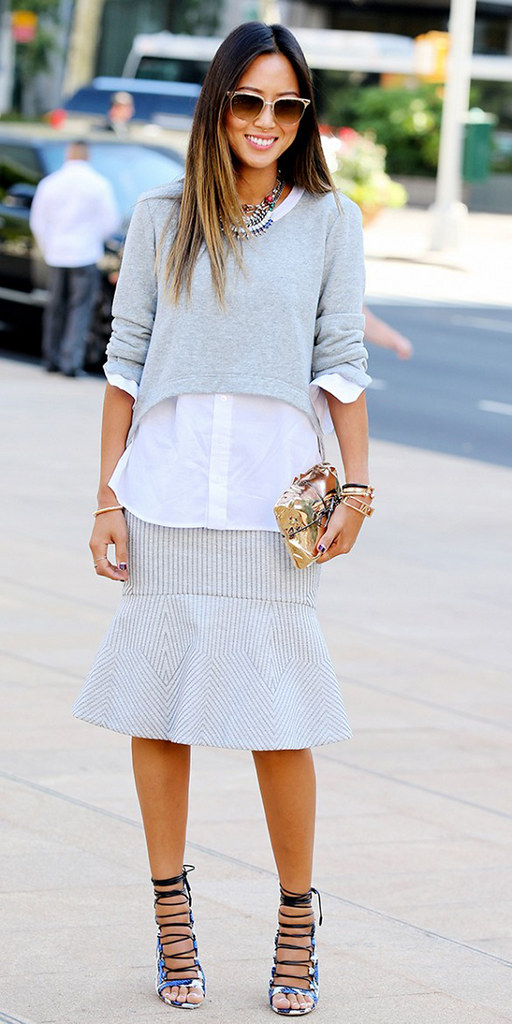 song-of-style-nyfw-day-1-bcbg-grey-sweater-flutter-skirt-aquazzura-heels-2