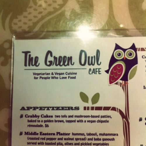 green owl menu