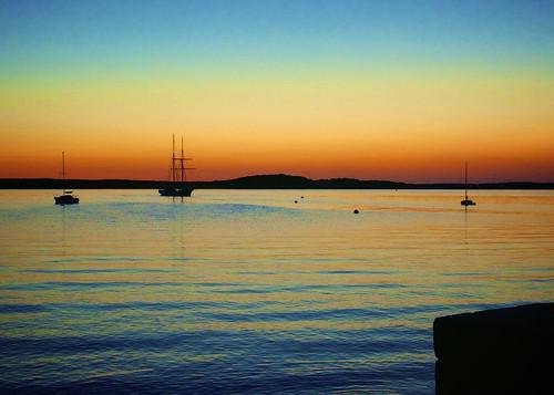 sunset boats dusk capecod bourne monumentbeach