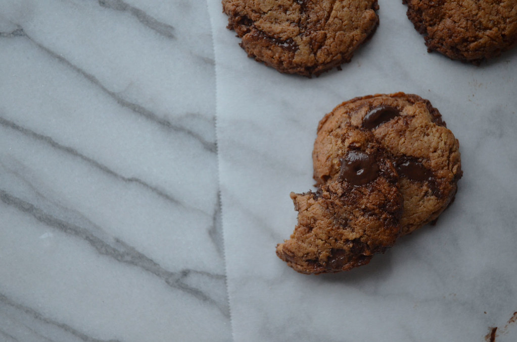 Vegan Gluten Free Chocolate Chip Cashew Cookies