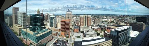 glass buildings cityscape worldtradecenter maryland baltimore panos innerharbor iphone