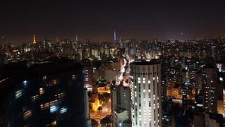 Imagine de Edifício Itália. city brazil night view saopaulo edificio copan antenna