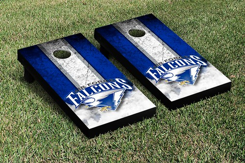 Air Force Academy Falcons Cornhole Game Set Vintage Wooden