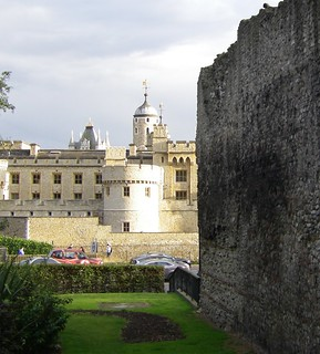 London - Wall and Tower from Tower Hill