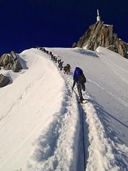 Snow ridge to Aiguille du Midi