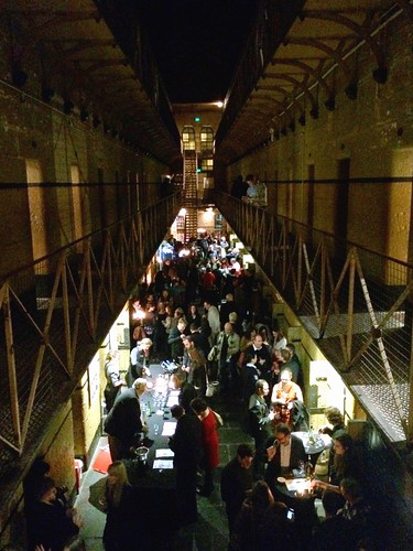 Pop up bar at Old Melbourne Gaol