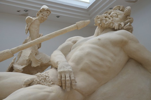 Detail of the Blinding of Polyphemus, cast reconstruction of the group, Sperlonga
