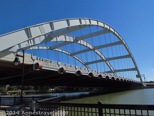 Rochester's Signature Bridge from the Genesee Riverway Trail, Rochester, New York
