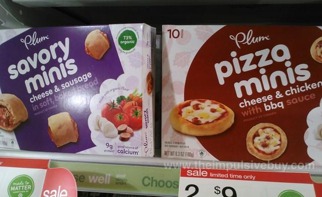 Plum Organics Savory Minis and Pizza Minis