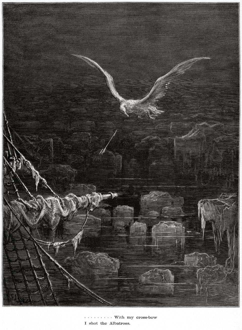 Gustave Doré, Ancient Mariner. I shot the albatross