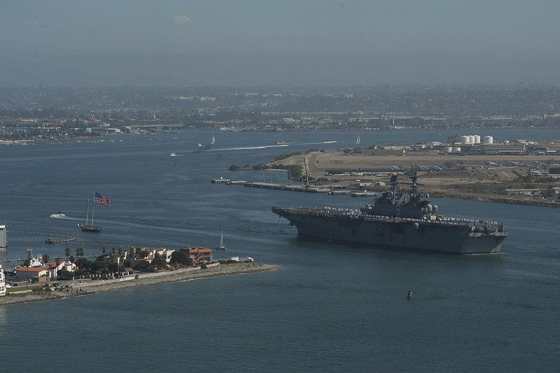 Future USS America Arrives in San Diego