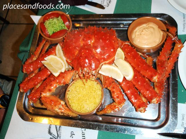 ushuaia la cantina king crab