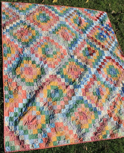 Scrappy Trip Along Muted Rainbow - Finally finished!