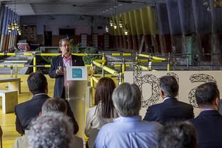 Intervención del presidente del Colegio de Arquitectos Vasco Navarro, Jesús Cañada.