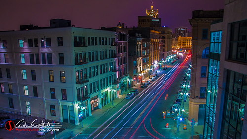 street longexposure cars wisconsin architecture night buildings landscape photography evening twilight downtown glow cityscape traffic unitedstates streetphotography transportation milwaukee waterstreet taillights mke lighttrail milwaukeewi discoverwisconsin travelwisconsin