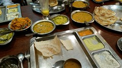 delicious Indian vegetarian food at Saravana Bhavan