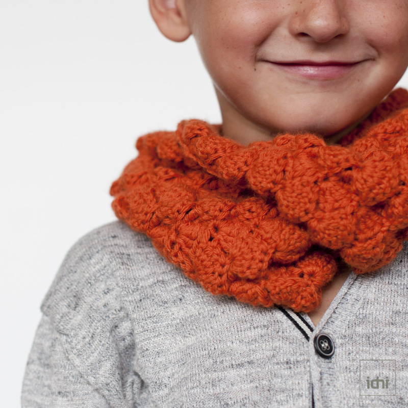 crochet scarf orange 2.