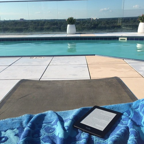 Book club reading by the pool. #nofilter