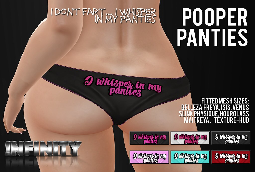 !NFINITY Pooper Panties - Whisper - SecondLifeHub.com