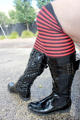 Boots with OTK Socks