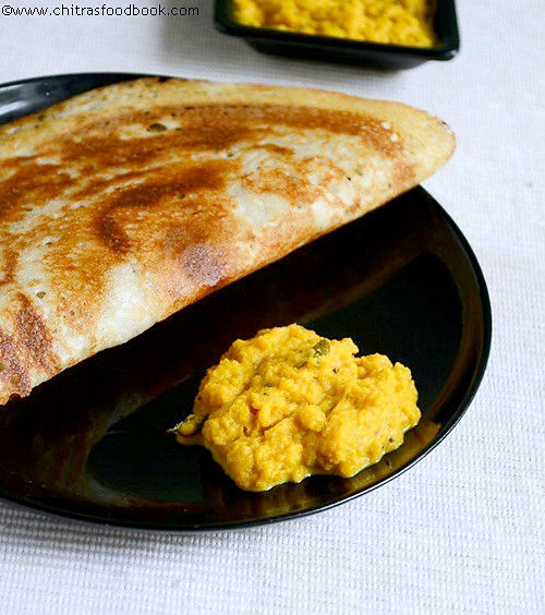 Carrot chutney recipe for dosa