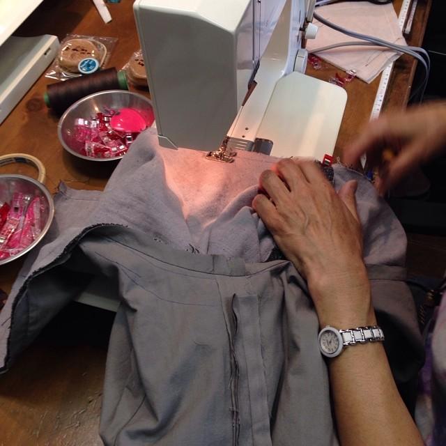 #linecamera ワンショルダーのバッグ製作中(-_^)
