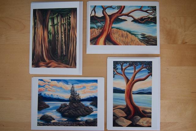 Gillian Gandossi Art Cards from Salt Spring Island