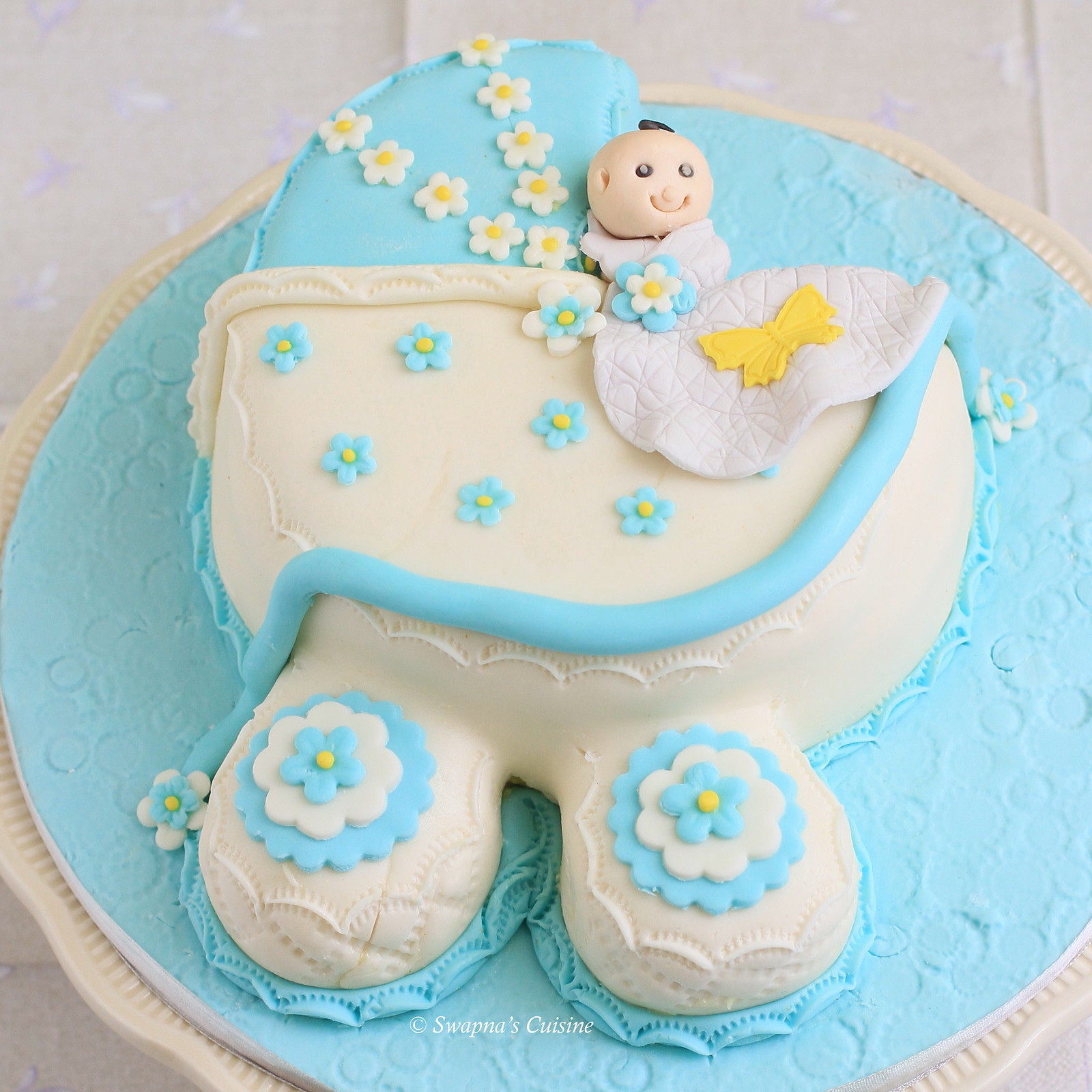 Baby Carriage Cake
