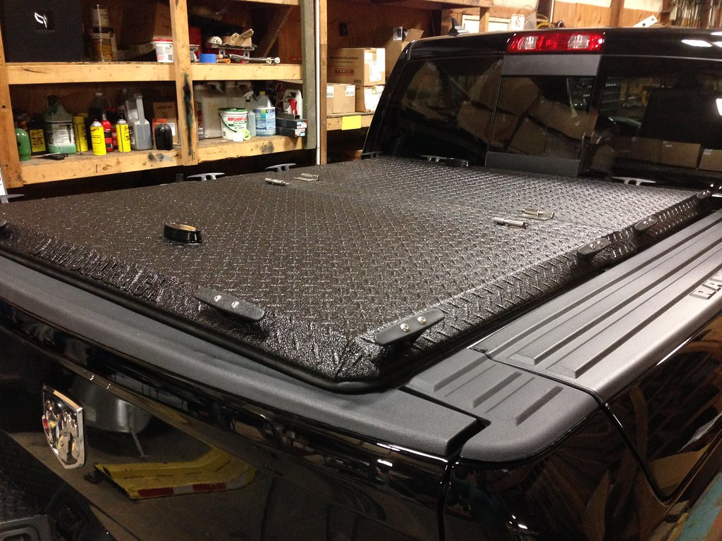 Heavy-Duty Truck Bed Cover On Ram With RamBox | A black ...