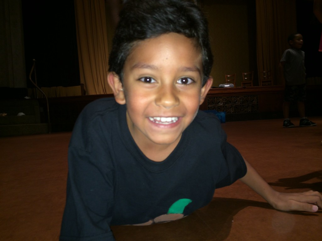 <p>there is nothing more rewarding then a child's smile after a long day of rehearsals and work</p>