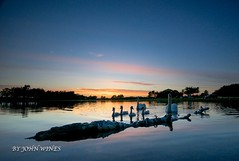 hatchet pond sunset