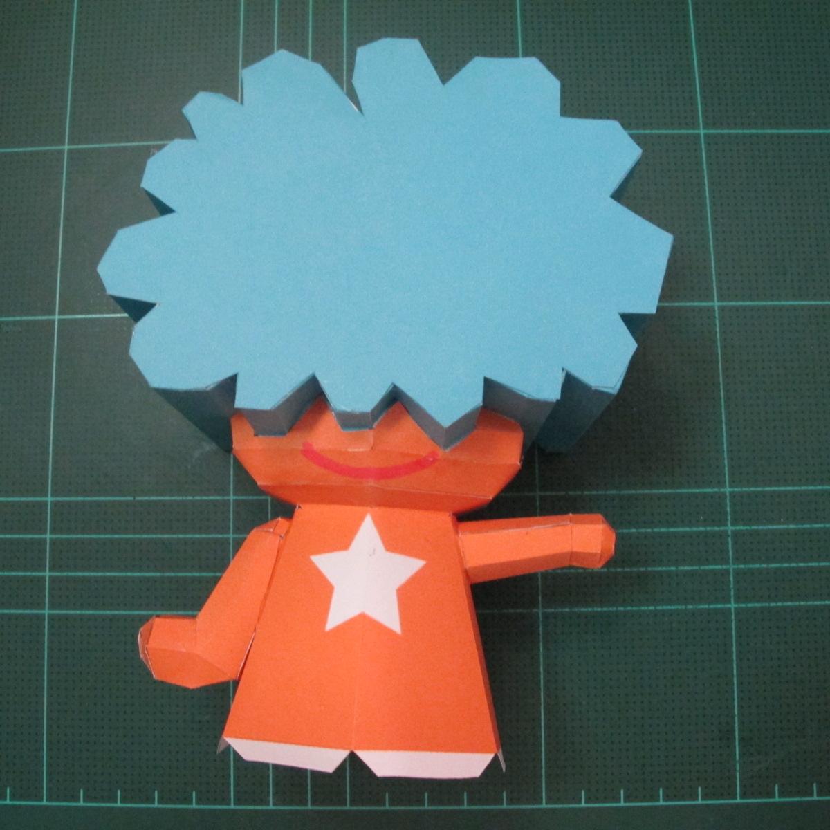 วิธีทำโมเดลกระดาษคุกกี้รัน คุกกี้รสเมฆ (Cookie Run Cloud Cookie  Papercraft Model) 008