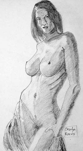 Sketch of Orsolya Kocsis