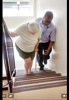 Up the stairs - it is possible!