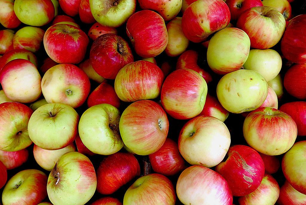 unas manzanas del país