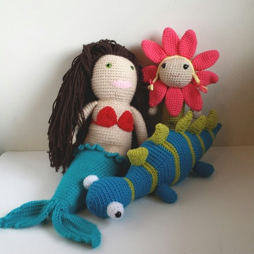 I let my kids each pick a toy from the left overs, I love how happy they are getting crochet toys!