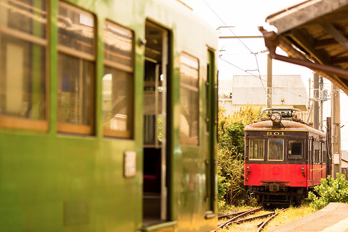 old railroad station japan train canon railway nostalgia 駅 鉄道 ローカル線 localline 銚子電鉄 デハ800