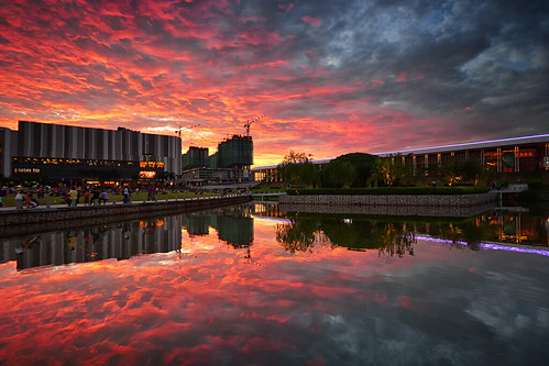 world sky art nature water clouds buildings reflections asian fire landscapes nikon asia skies awesome sigma malaysia colourful selangor shahalam sigma1020mm sigma1020 singhray leefilter reversegnd nikond7100