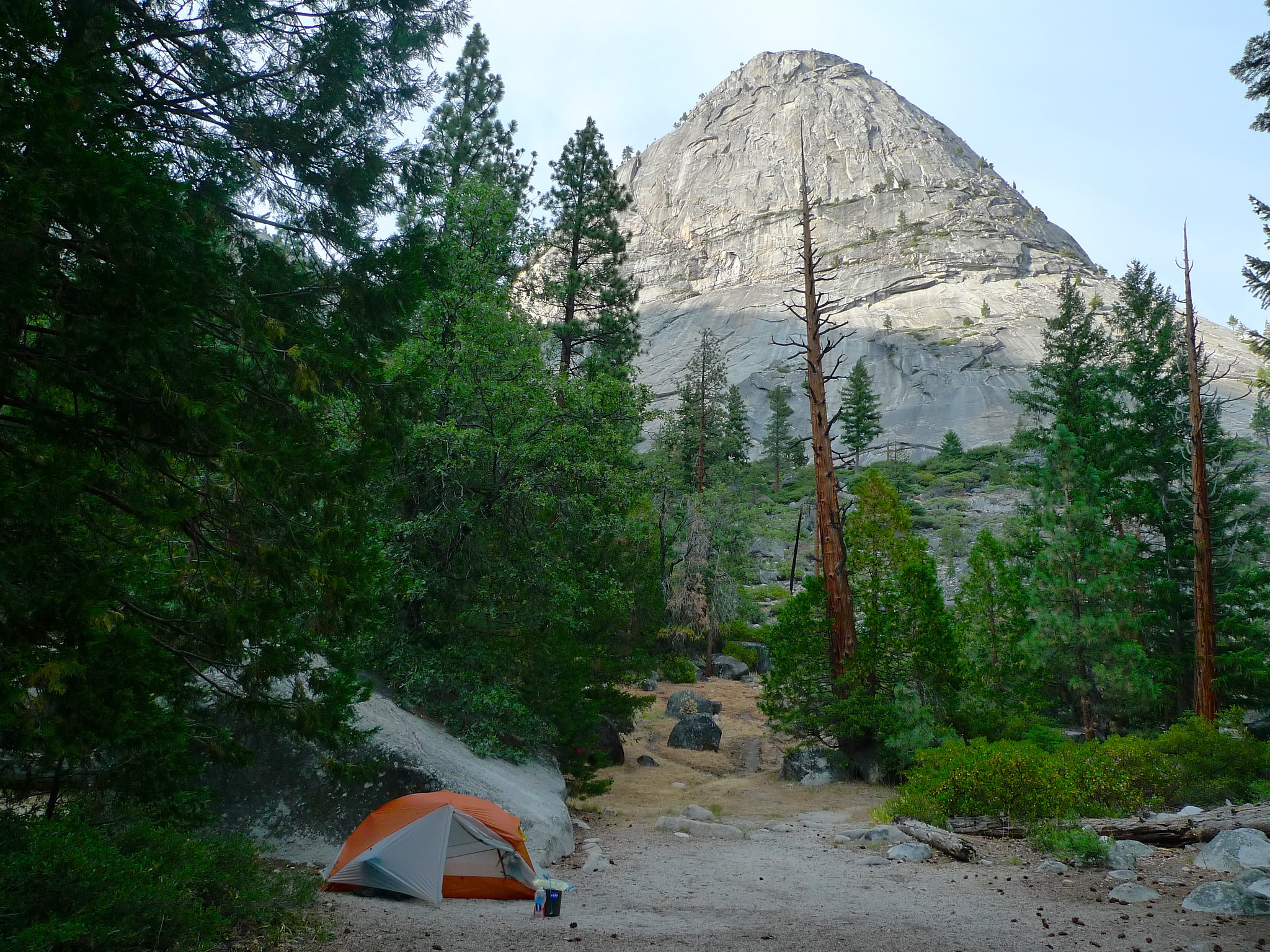 Camp in LIttle Yosemite Valley