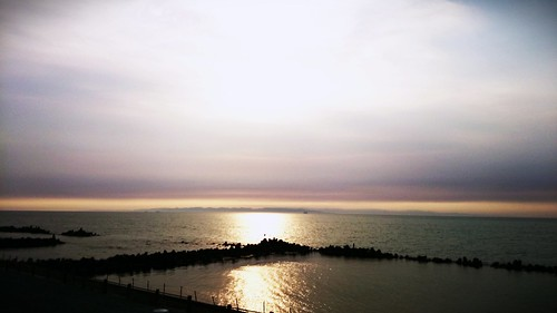 sunset sea sun japan landscape scenery view 夕日 nigata 新潟